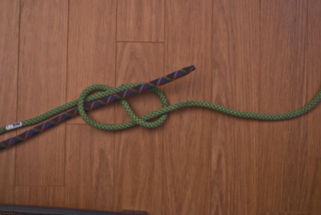 Quatrième étape du noeud en huit
