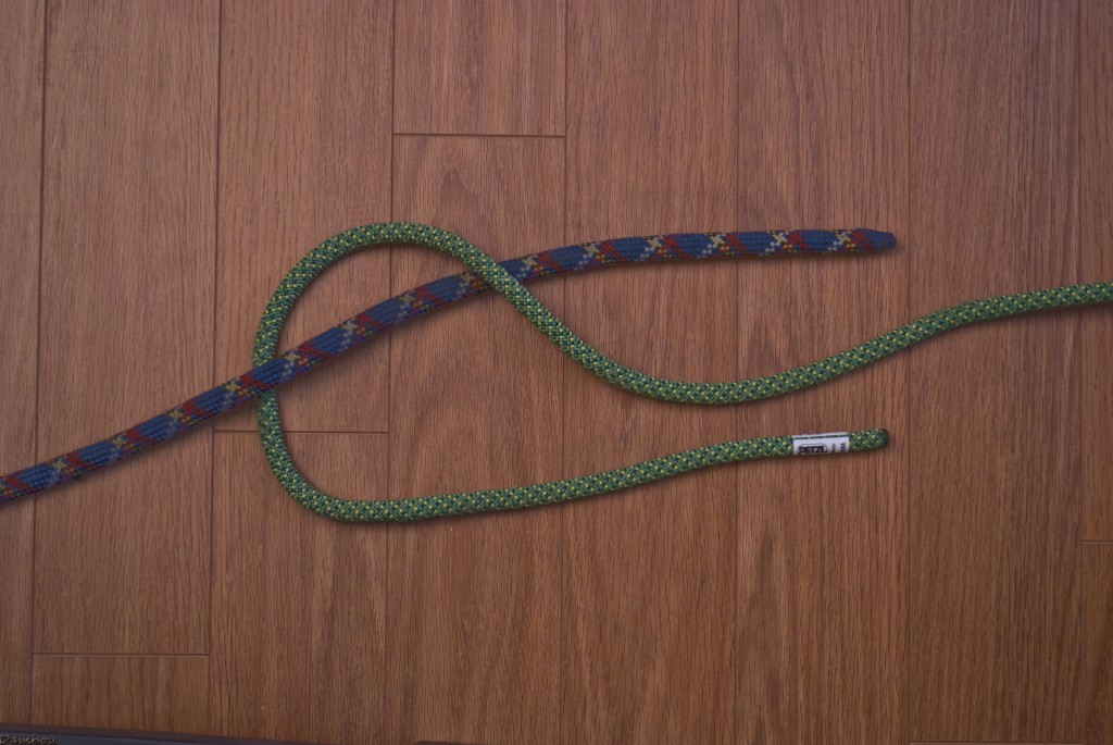 deuxième étape du noeud plat