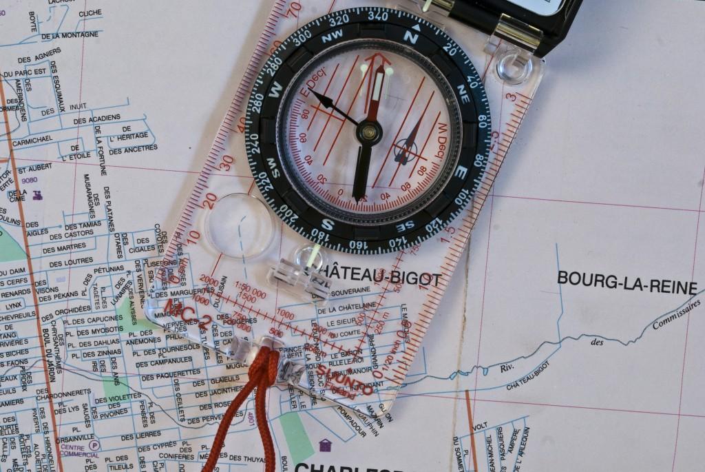 Carte routière et topographique