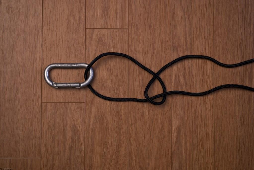 deuxieme étape du noeud de chaise