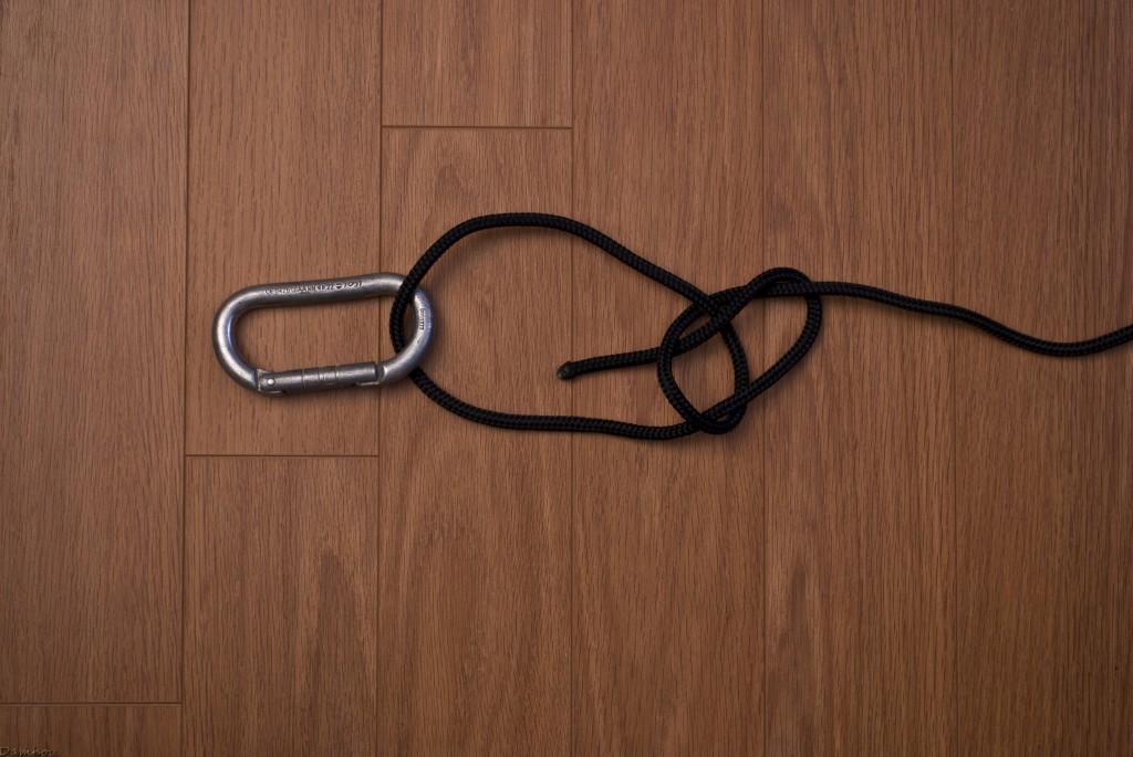 Quatrième étape du noeud de chaise