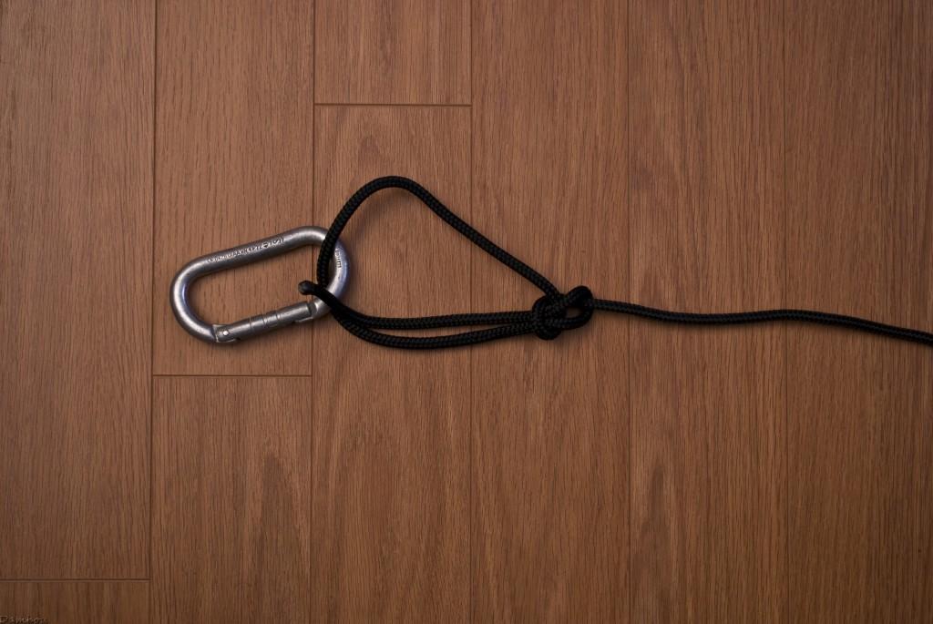 Cinquième étape du noeud de chaise