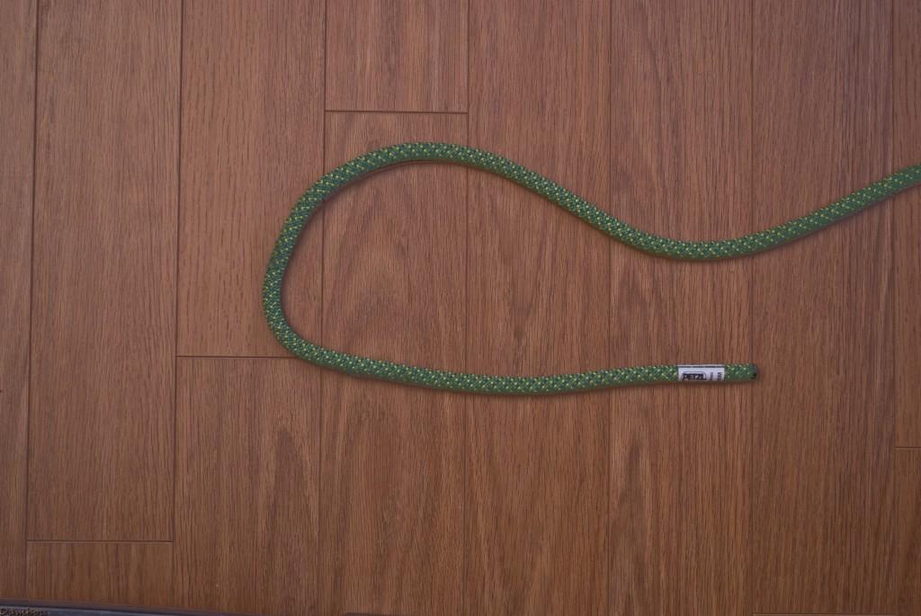 Première étape du noeud plat